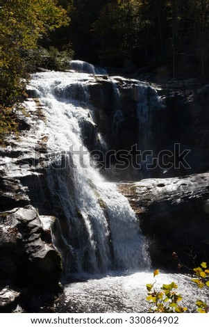 Waterfall in the sunshine
