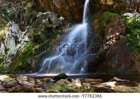Waterfall in the Tasmanian wilderness