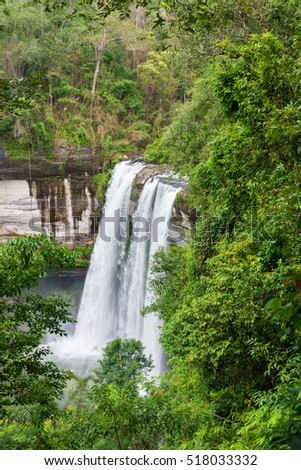 Waterfall in Ubon Ratchathani, Thailand,
