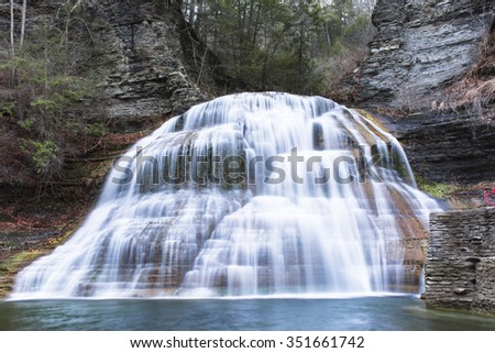 Waterfall in upstate New York - stock photo