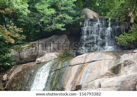 Waterfall landscape.