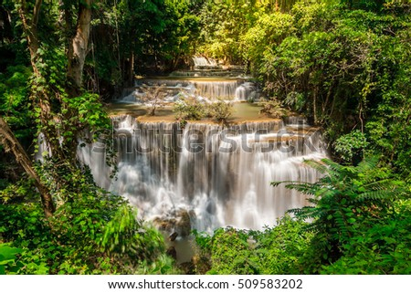 Waterfall landscape in Thailand.