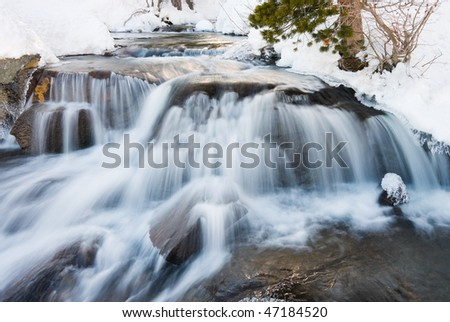 Waterfall movement on the rocks