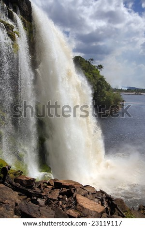 waterfall, National park Canaima