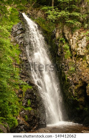 waterfall near Todtnau, a town in the Black Forest in Germany