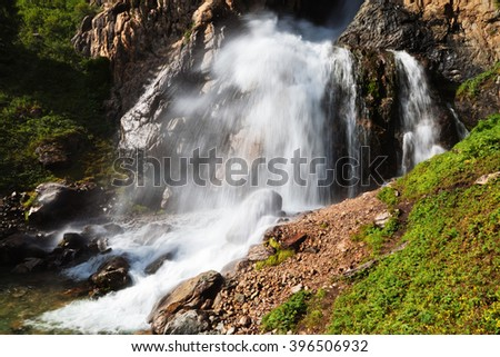 WaterFall of Burhan Bulak in Kazakhstan