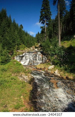 waterfall river - stock photo