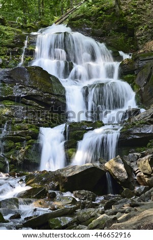 Waterfall SHEPIT at Ukraine Carpathians