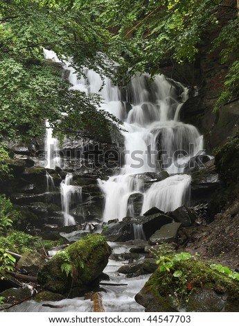 waterfall  Shipot,  Ukraine - stock photo