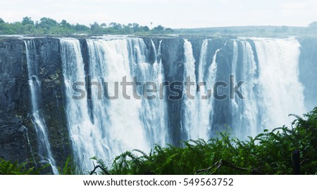 waterfall Victoria in South Africa