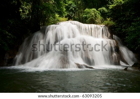 waterfalls in deep forest  ,thailand