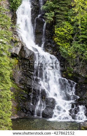 Waterfalls in EC Manning Park, British Columbia - stock photo