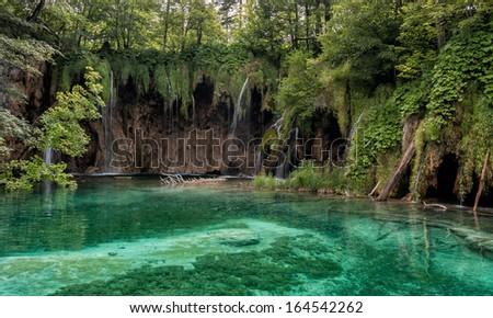 Waterfalls in plitvcie - stock photo