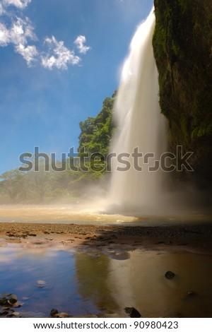 waterfalls side view - stock photo