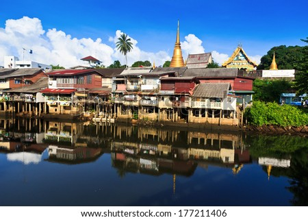 Waterfront home in Chanthaburi ,Thailand - stock photo