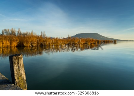 Waterfront landscape in Hungary,Szigliget port