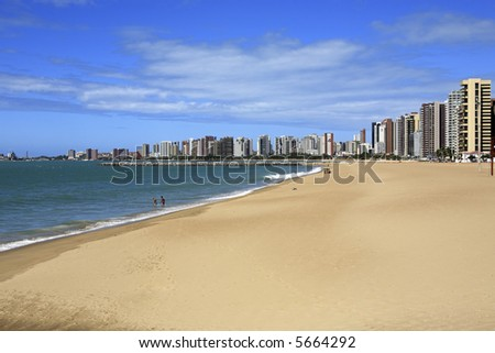 waterfront of Fortaleza in ceara state brazil - stock photo