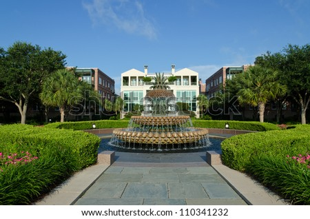 Waterfront park in Charleston, SC - stock photo