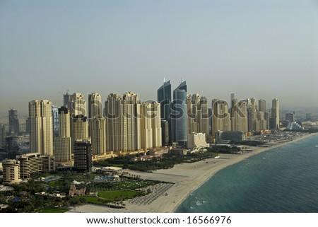 Waterfront Real Estate In Dubai - stock photo