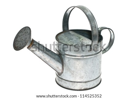Watering can isolated on white background.