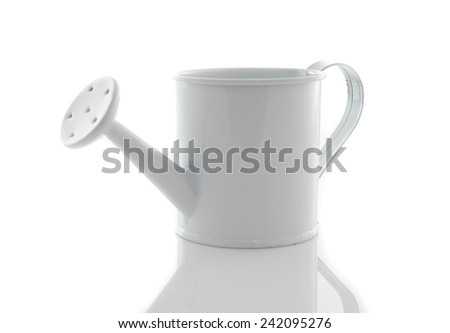 watering can isolated on white background. - stock photo