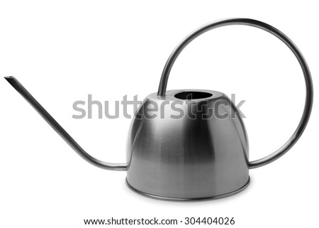 Watering can on white background - stock photo