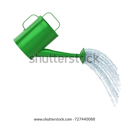 watering can pouring water isolated 3d stock illustration