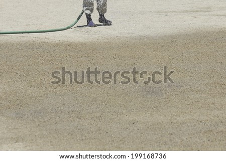 Watering With The Water Hose