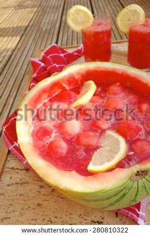 bowl sangria summer punch and cooler recipes watermelon punch and bowl ...