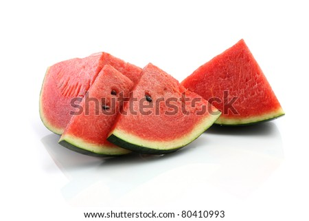Watermelon isolated in white background - stock photo