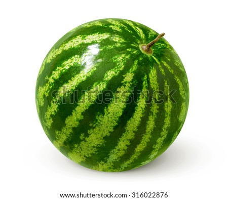 Watermelon isolated on white background. - stock photo