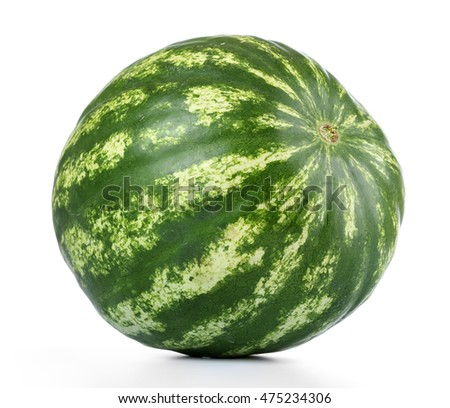 Watermelon isolated on white background. File contains a path to isolation.