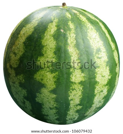 Watermelon on a white background. File contains the path to cut. - stock photo