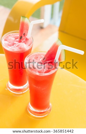 watermelon smoothie, make you feel refreshed. - stock photo
