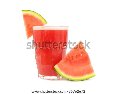 Watermelon smoothie with watermelon piece