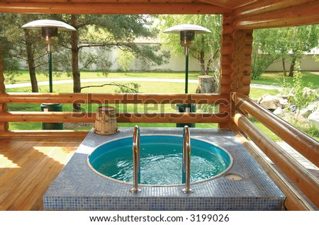 Waterpool close to nature and sunshine - stock photo