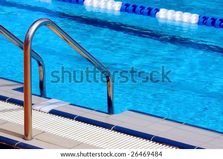 waterpool with blue water - stock photo