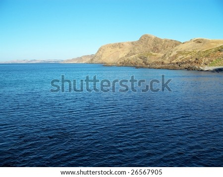 Waters Off Second Valley, South Australia - stock photo
