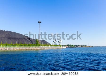 Waterscape in  Helsinki, Finland. - stock photo