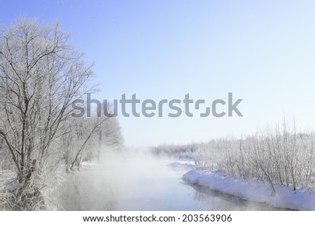Waterside In Severe Winter