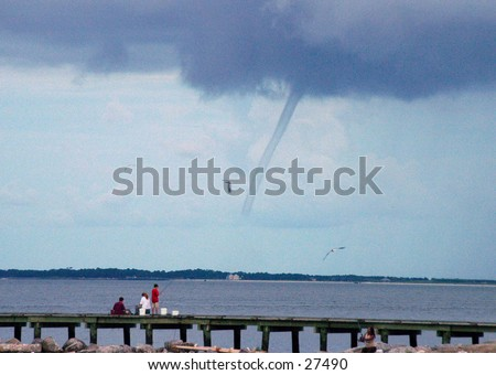 Waterspout on Mobile bay