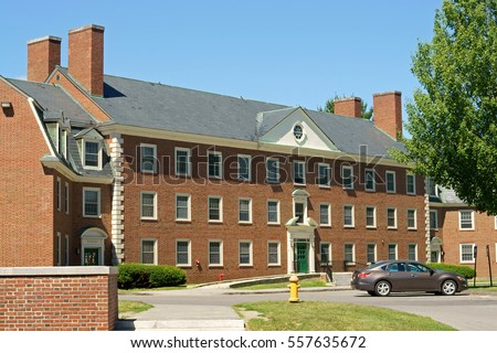 WATERVILLE, USA - JULY 25, 2016:Colby College, founded as Maine Literary and Theological Institution renamed Waterville College in 1821, renamed as Colby University in 1867. Campus.