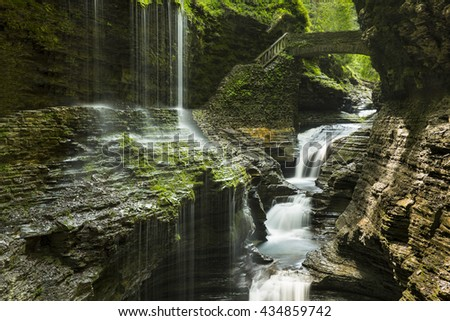 Watkins Glen State Park in upstate New York - stock photo