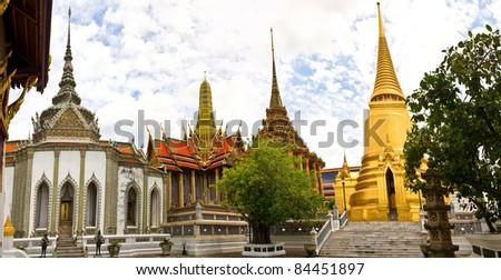 Watprakeaw, beautiful buddhist temple in Thailand - stock photo