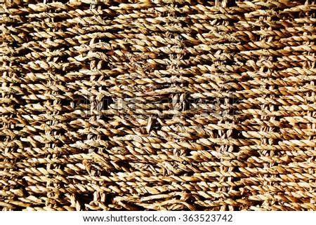 wattled background basket - stock photo