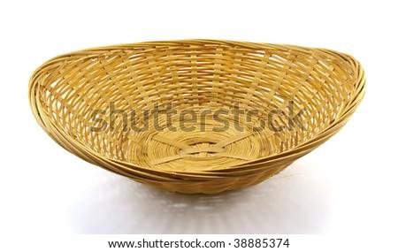 Wattled basket isolated on a white background - stock photo