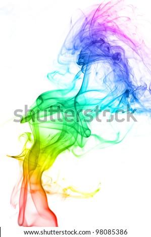 Wave and smoke background - stock photo