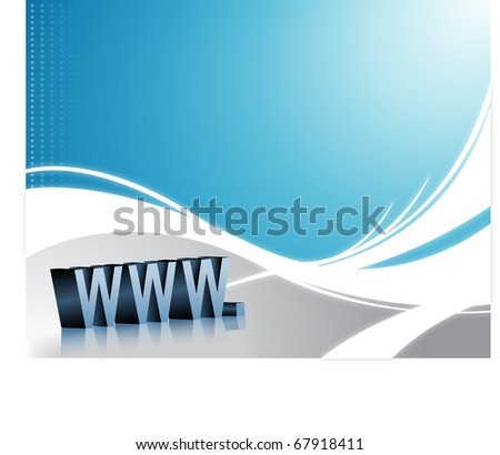 Wave Background in blue and white. - stock photo