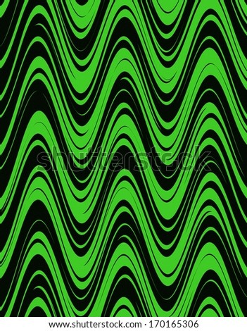 Wave Background in Green