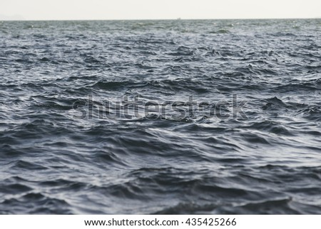 Wave in the sea,shots with low angle.